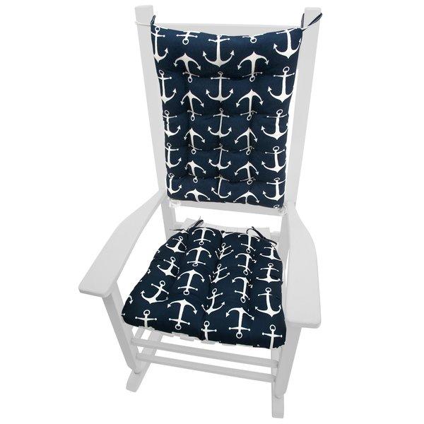Barnett Home Decor Coastal Indoor/Outdoor Rocking Chair Cushion
