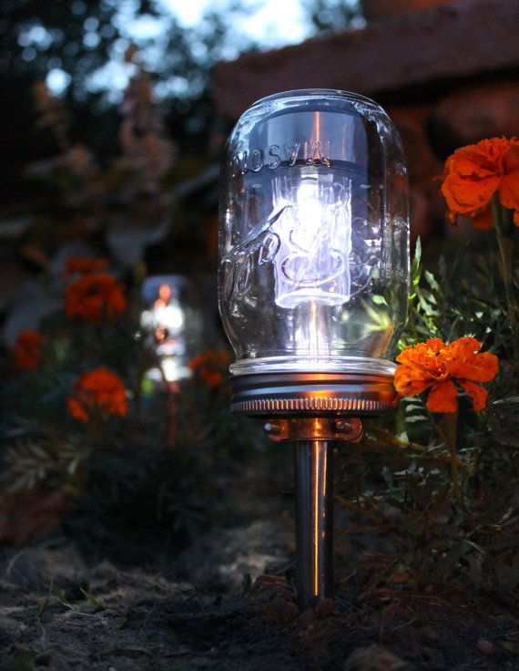 Love this! A $3.79 garden path solar light gets a vintage makeover