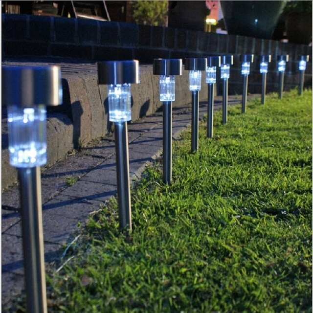Solar Lawn Light For Garden Drcoration Stainless Steel Solar Power