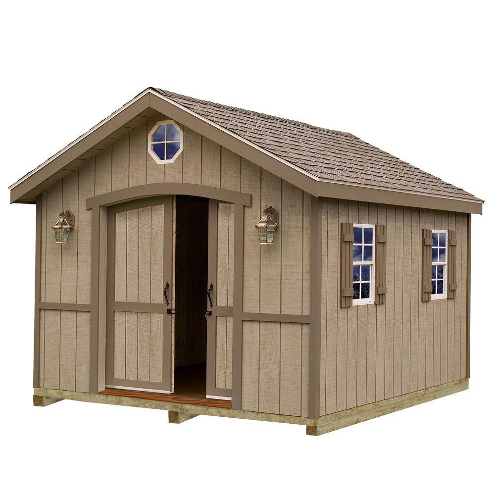 Wood Storage Shed Kit with Floor Including 4 x 4 Runners