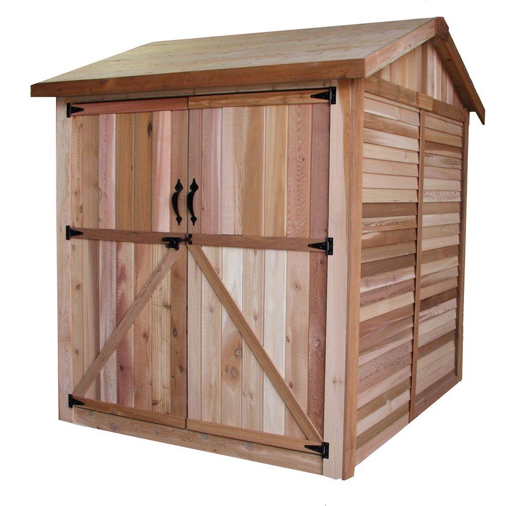 Outdoor Living Today 6 ft. x 6 ft. Western Red Cedar Maximizer Storage Shed