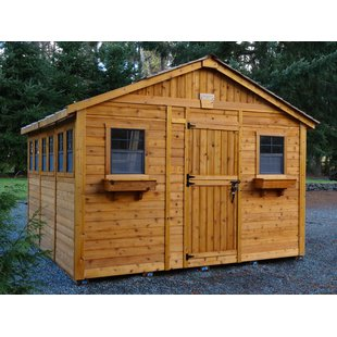 D Solid Wood Storage Shed. By Outdoor Living Today
