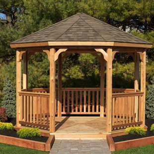 Outdoor Wood Gazebos | Wayfair