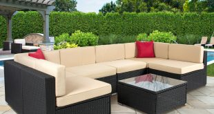 Costway 4 Pc Rattan Patio Furniture Set Garden Lawn Sofa Cushioned Seat Mix  Gray Wicker - Traveller Location