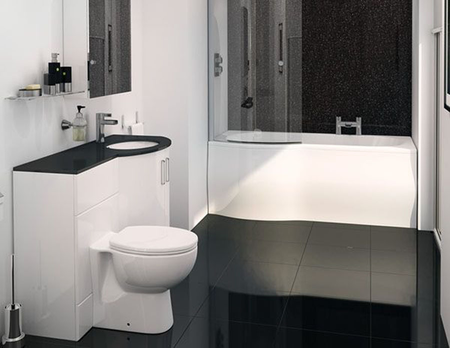 The Sparkle P Shape Vanity Bathroom Suite from VIP Bathrooms - now only  986.99 GBP!