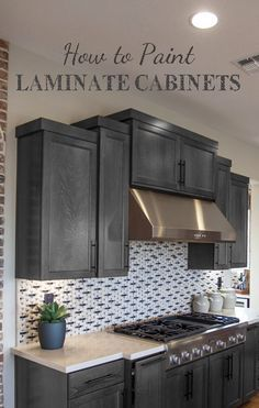 There are a few crucial things to know about painting laminate cabinets.  Here are some of the main things to know before you start: View the  slideshow below