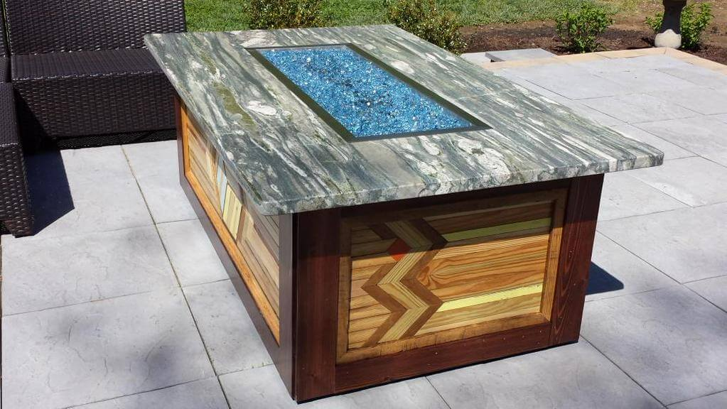 Custom Fire Table, Fire Pit, patio, deck