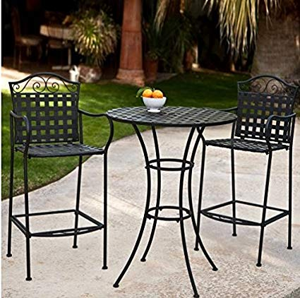 Patio furniture bistro sets bar height   ideas