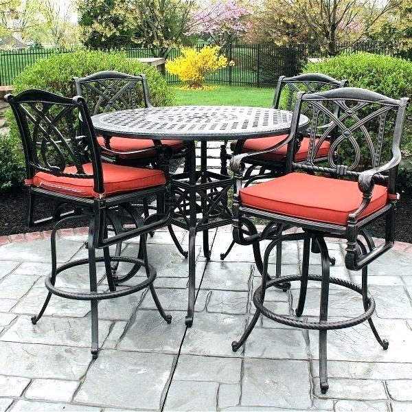 outdoor bistro table set bar height outdoor table set high patio table set  awesome bar height