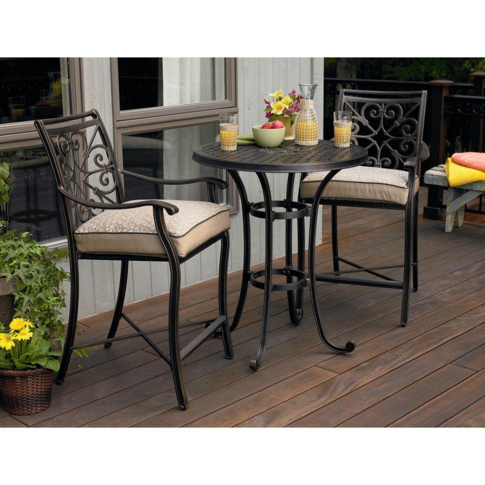 HomeOfficeDecoration Outdoor Bar Height Bistro Sets bar height round bistro  table