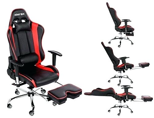 Gaming Chair With Footrest Ergonomic Series Leather Office Chair Racing  Chair With Footrest Comter Gaming Chair Recliner Swivel Tilt Rocker And Seat  Height