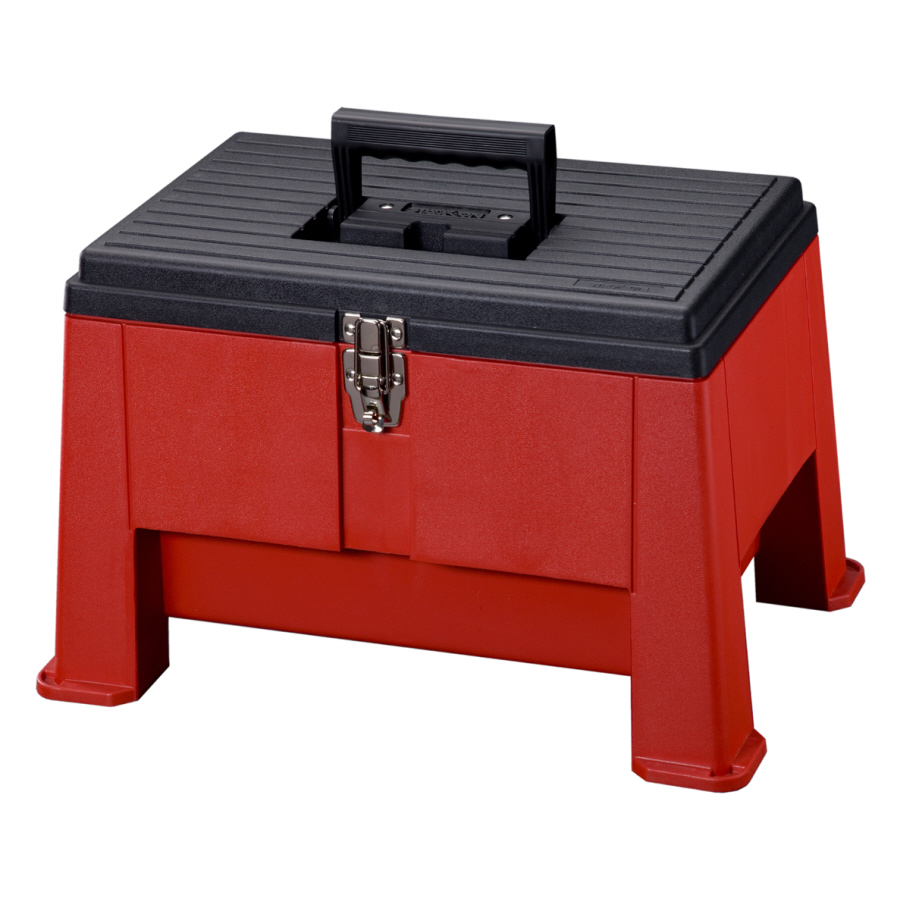 Plastic step stool with storage safety   tips
