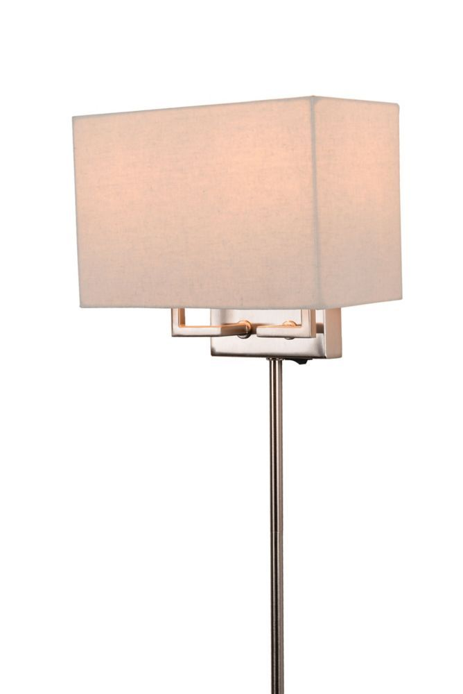 Transitional 2 Light Wall Sconce -in Brushed Nickel, Plug-in with Cord  Covers