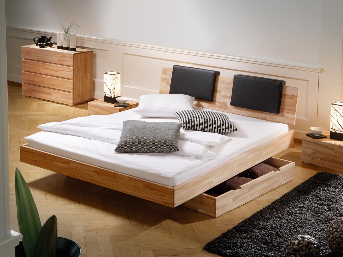 Queen Twin Platform Bed with Storage Drawers