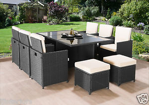Image is loading CUBE-RATTAN-GARDEN-FURNITURE-SET-CHAIRS-SOFA-TABLE-