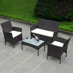Rattan garden furniture table set: the   beauty of garden