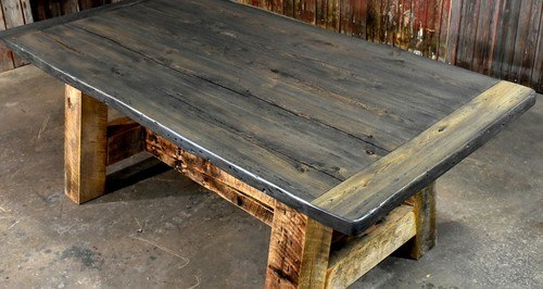 You can give rustic to your own reclaimed   barnwood furniture