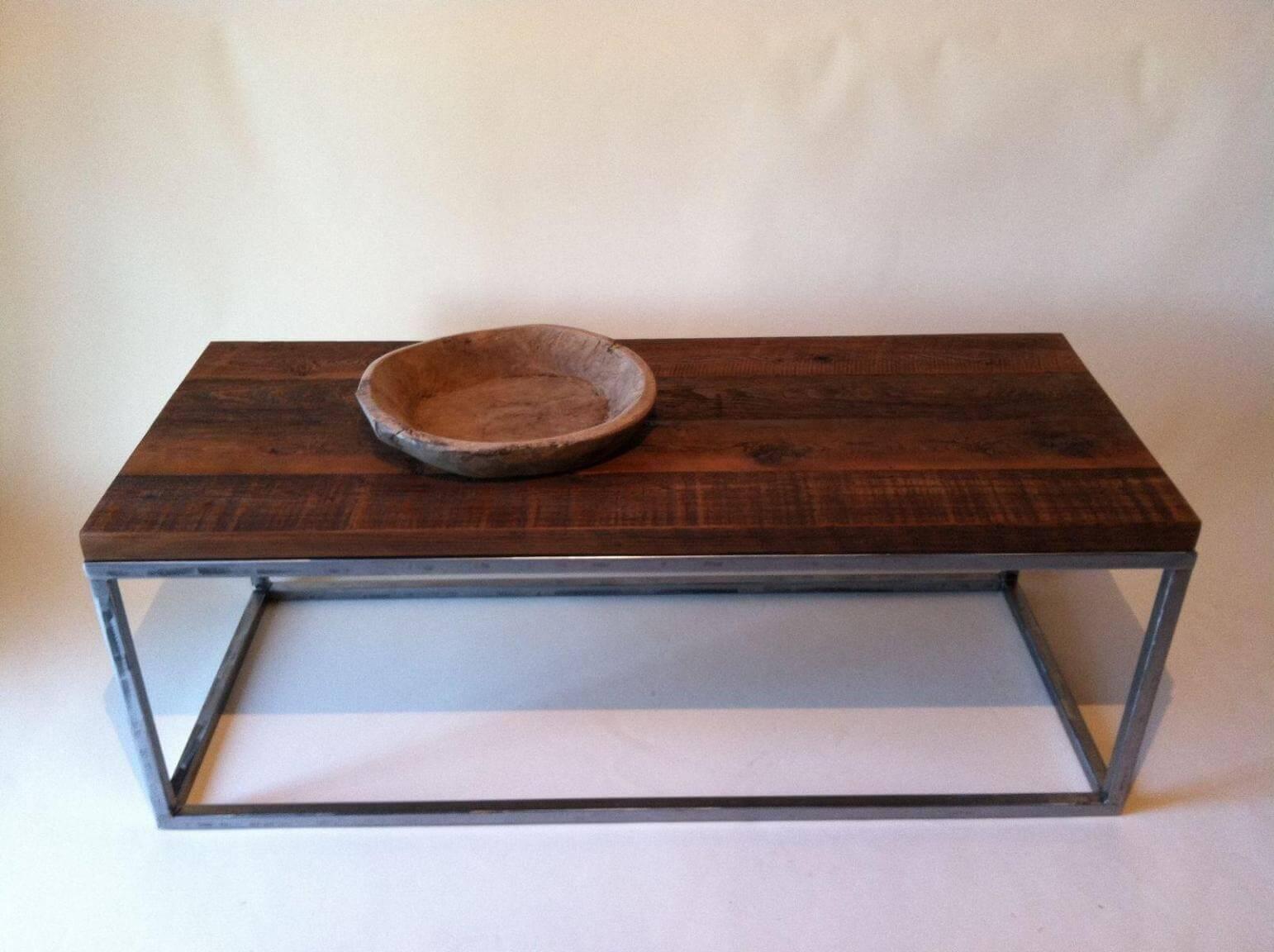 Reclaimed Wood Coffee Table Metal Legs