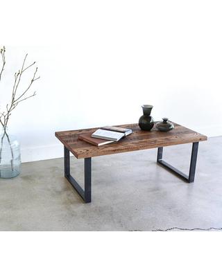 Reclaimed Wood Coffee Table / Industrial UShaped Metal Legs