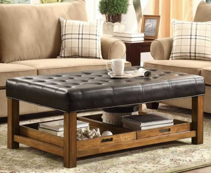 rectangle leather ottoman coffee table - Duskrodentry.com - Home Tables