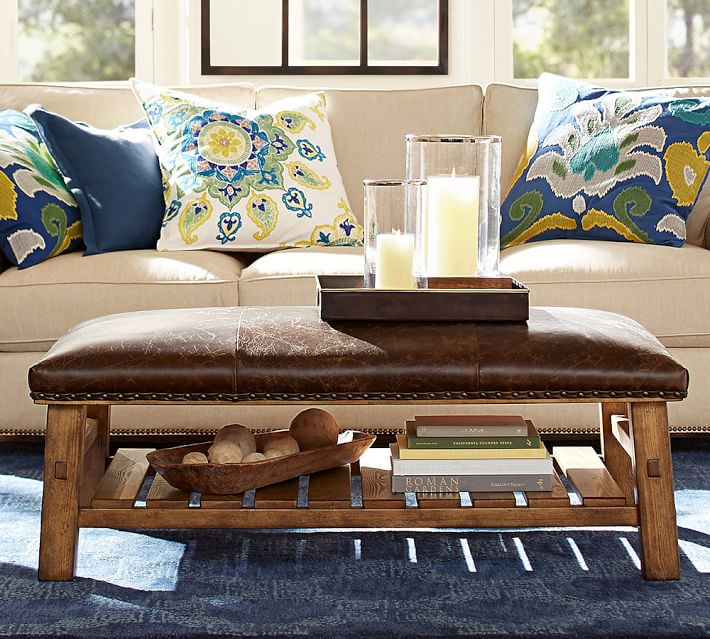 Captivating Rectangle Ottoman Coffee Table | wallercountyelections.com