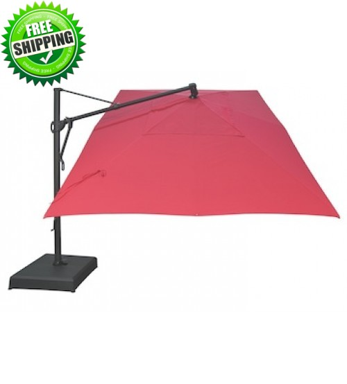 Enjoy sitting outside while having   rectangular cantilever patio umbrella
