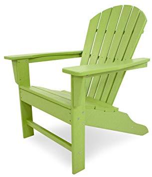 Amazon.com : POLYWOOD Outdoor Furniture South Beach Adirondack Chair