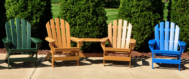 Cape Cod Recycled Plastic Adirondack Chair   Belson Outdoors®