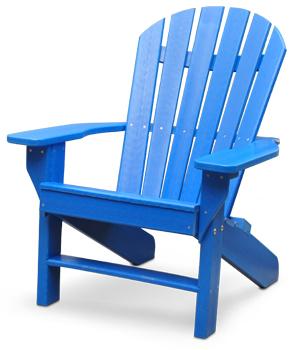 Recycled plastic adirondack chairs are   ergonomic