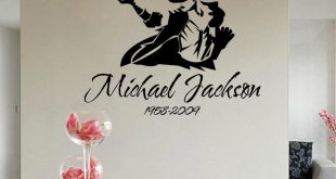 Portrait Vinyl Wall Stickers Michael Jackson Removable Wall Decals Home  Decoration