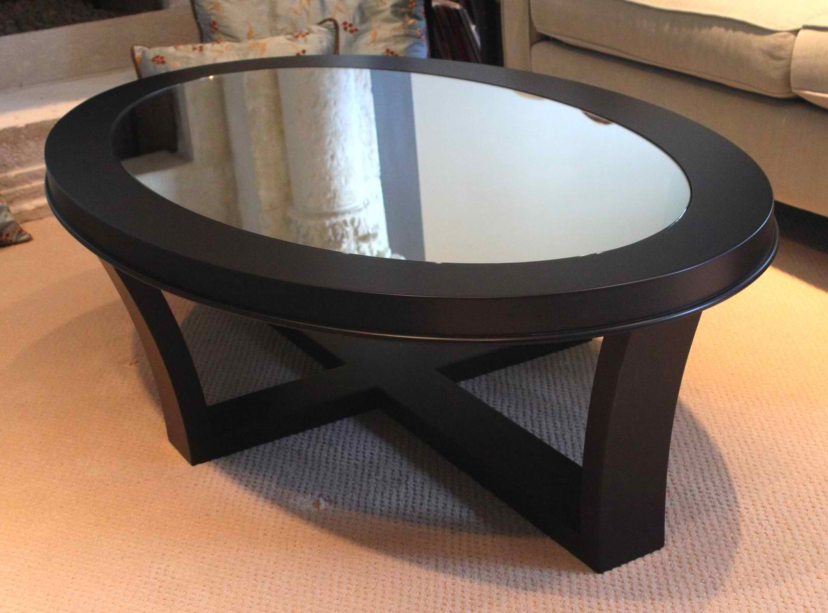 Image of: Black Glass Coffee Table Awesome