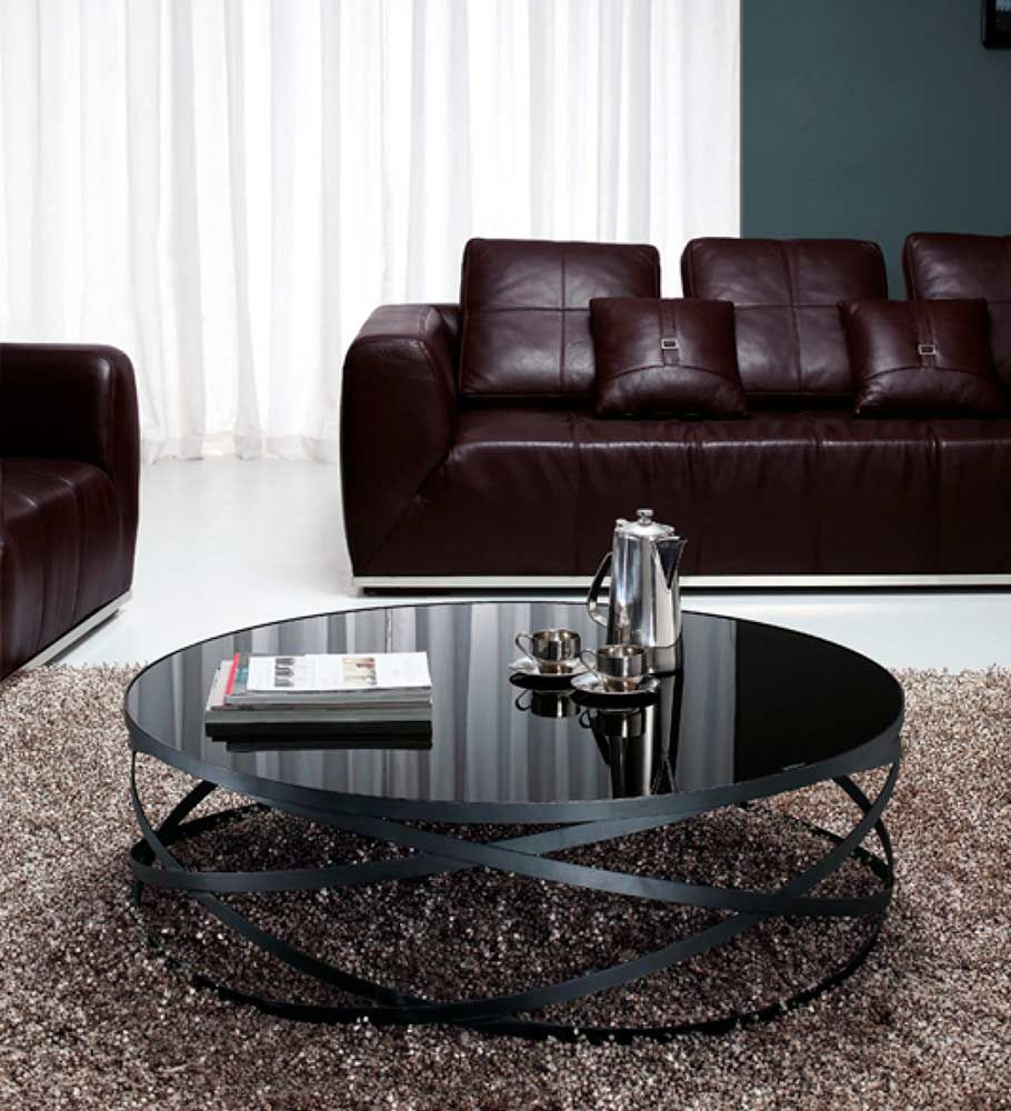 Black Glass coffee table VG 139