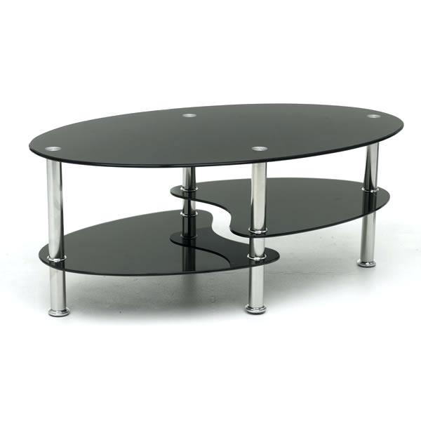 Awesome Round Black Glass Coffee Table White Gloss Split Shelf With Dining  And Chair Side Vase