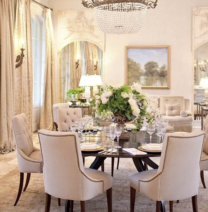 Round Dining Room Table For 8: Flourish Your Home Appearance With Modern Round Dining