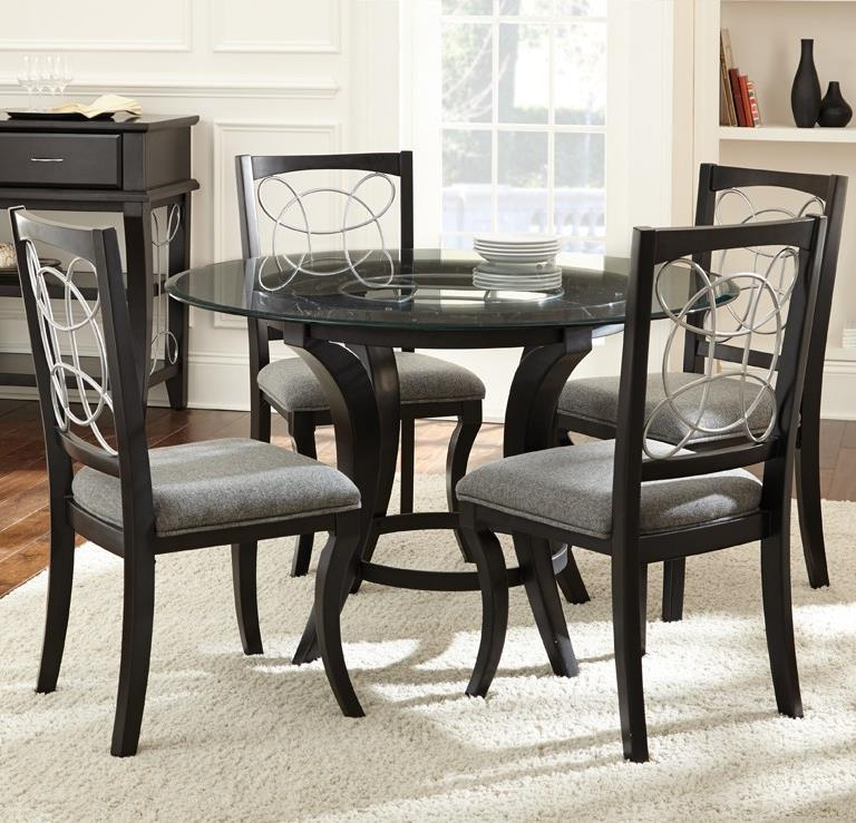5 Piece Glass Top Dining Set