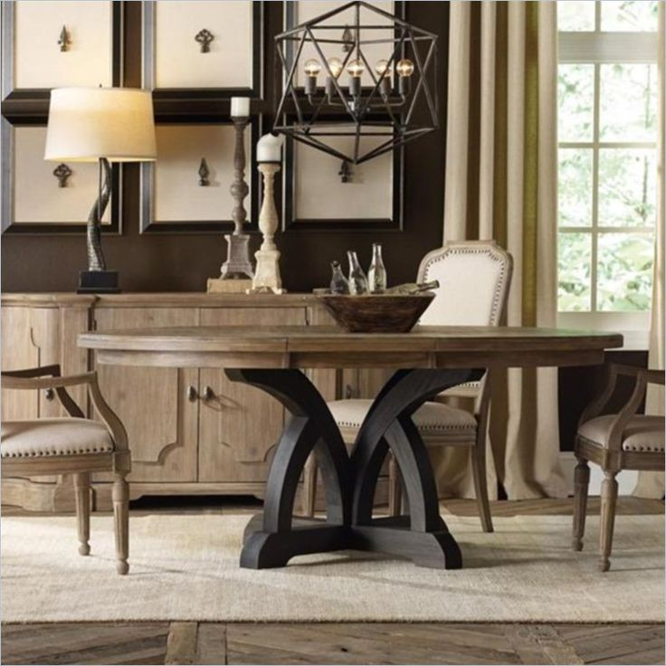 Dining Tables, Round Wood Dining Table Set Round Dining Table Set For 6  Hooker Furniture