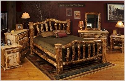 Rustic Aspen Log Bedroom Furniture