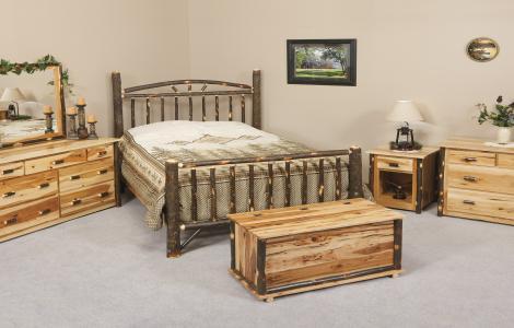 Rustic Log Bedroom Set | Clear Creek Amish Furniture | Waynesville, OH