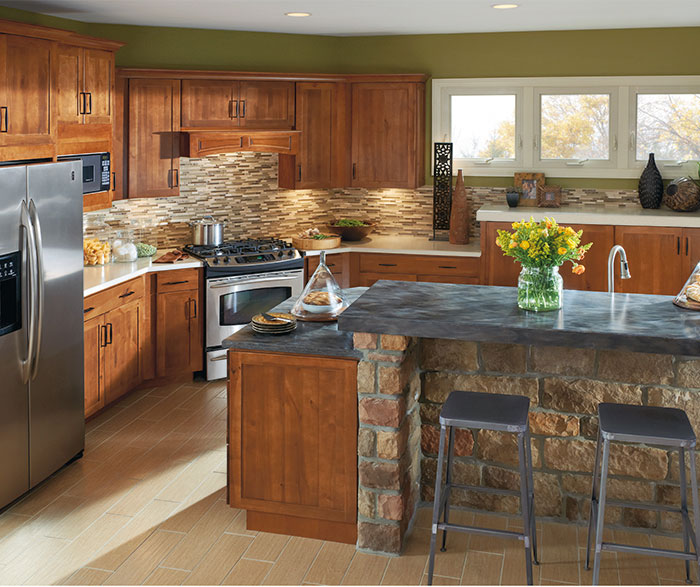 Shaker style kitchen cabinets by Aristokraft Cabinetry