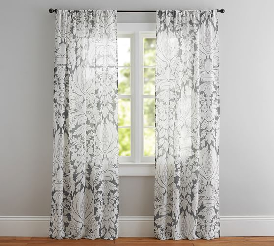 Modern lifestyle – sheer damask curtains