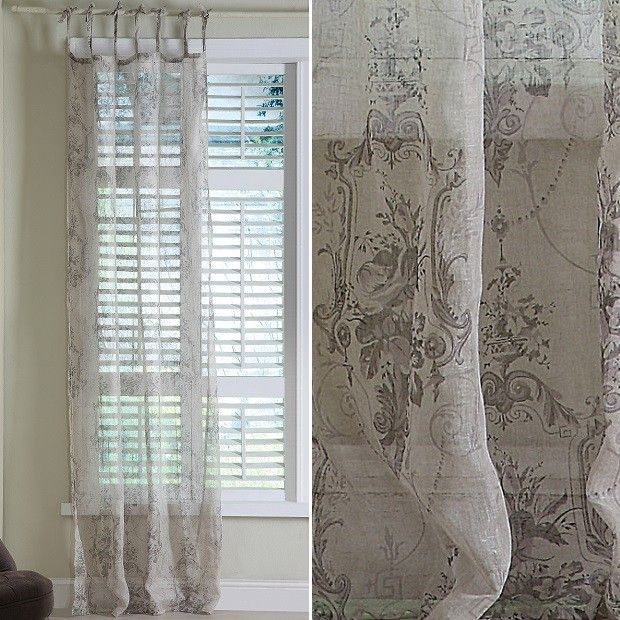 Linen Curtains | Sheer Drapes | Damask Curtains | oh to wish | Curtains, Damask  curtains, Damask.