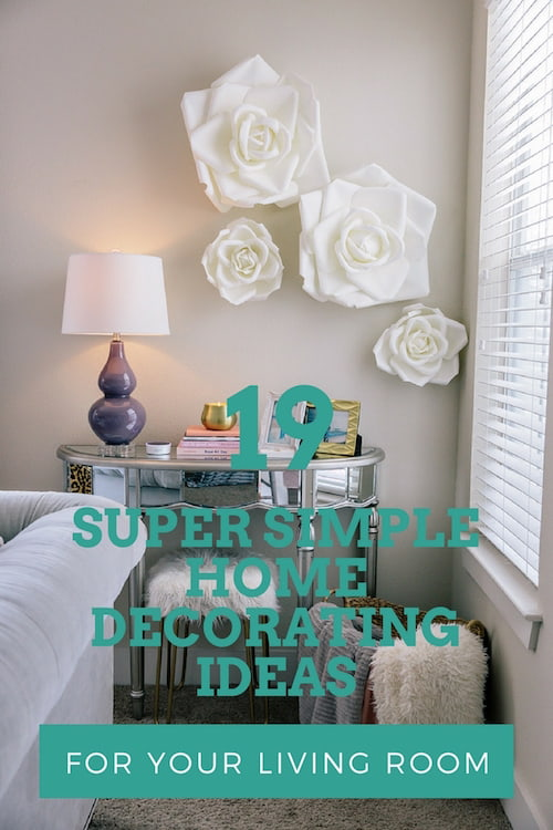 19 Super Simple Home Decorating Ideas For Your Living Room | Canvas