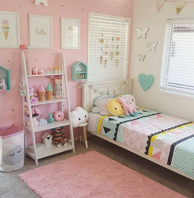 Girls room decor ideas colors, white, decor, rustic, canopy, storage, twin,  small, simple, preteen, rainbow, woodland, mermaid and mint