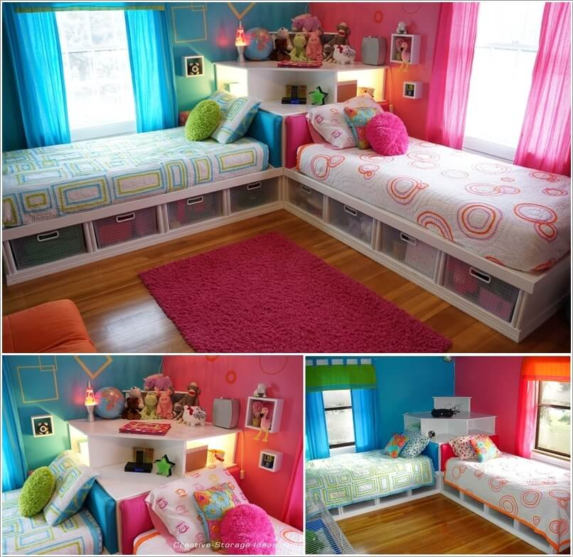 Cute single bed frame for kids   room