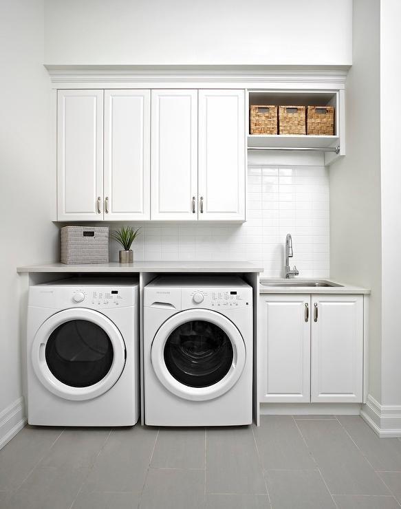 Monochromatically Modern Laundry