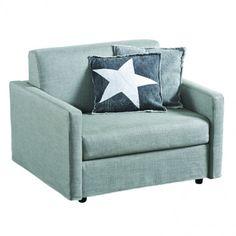 Twin Sleeper Chair, Grey Linen