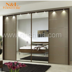 American Style Clothes Cabinet Sliding Mirror Wardrobe Doors