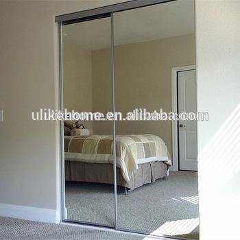 Paint White Aluminum Sliding Mirror Wardrobe Doors