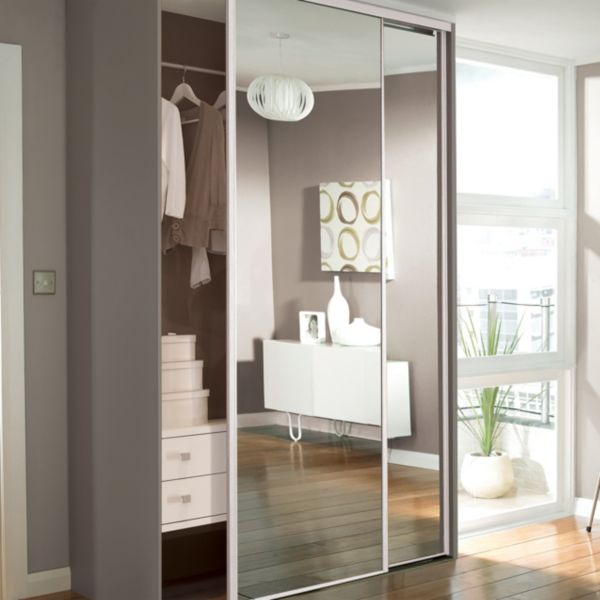 Sliding Wardrobe Doors For Luxury Bedroom Design wardrobe closet with mirror  doors