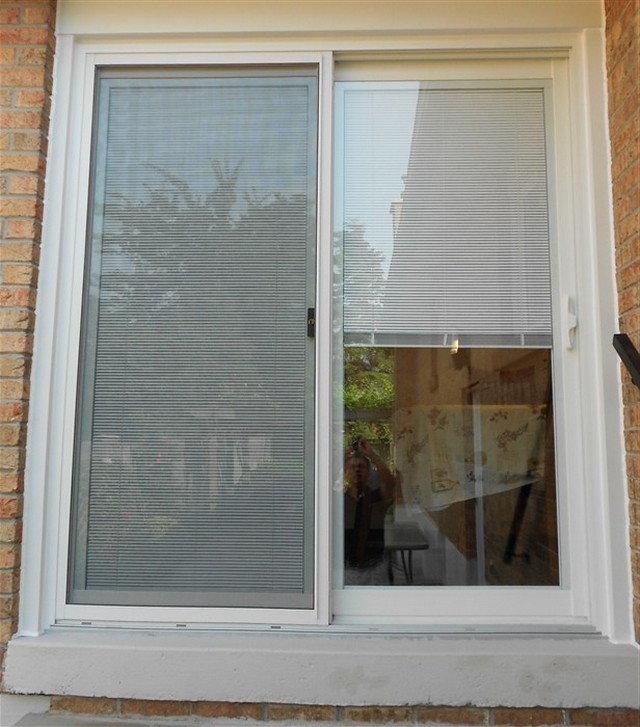 Anderson sliding glass doors with built in blinds patio door with
